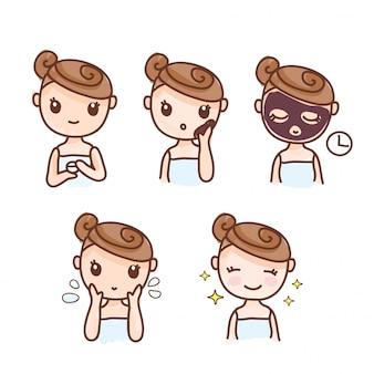 少女のステップをマスクする方法