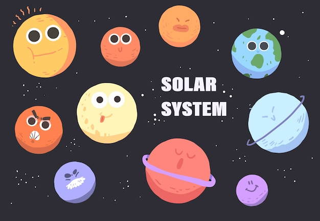 太陽系の惑星。太陽系の惑星