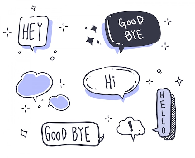 漫画スタイルのメッセージ