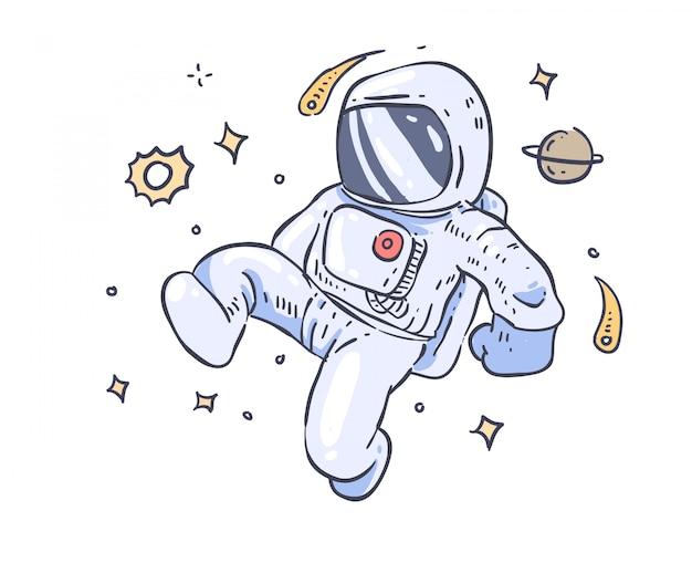宇宙飛行士の落書き