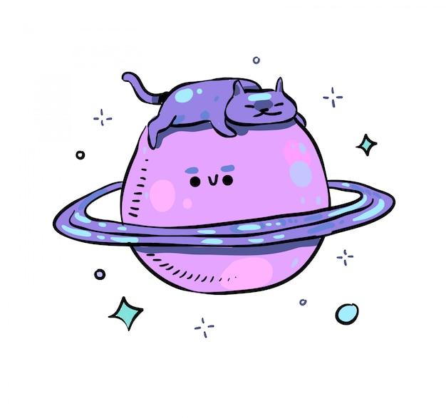 土星の落書き