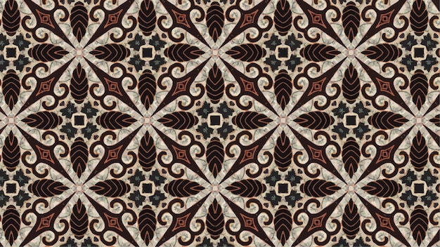 バティックパターン、インドネシアバティックのベクトルの背景