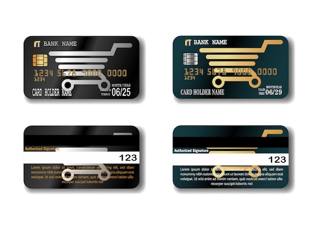 クレジットカードのテンプレート