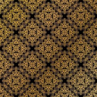 ゴールドのシームレスパターン