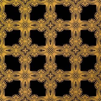 高級ゴールドバティックパターン背景