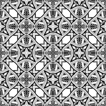 黒と白のバティックパターン背景