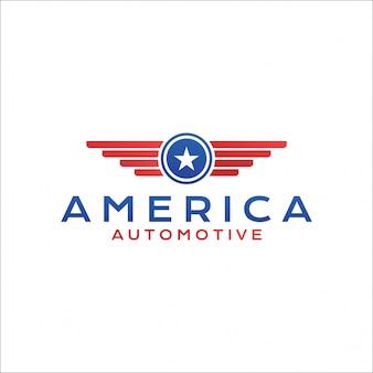 Крылья и звезда автомобильная америка логотип