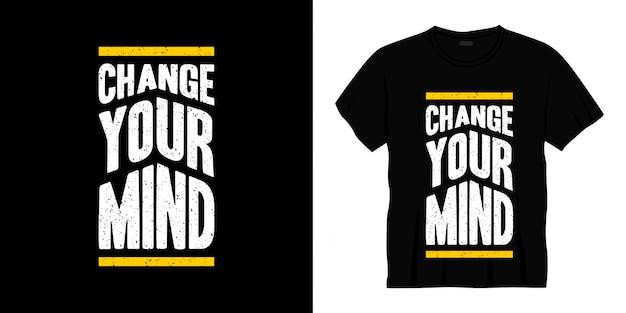 Передумать дизайн футболки типографии