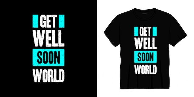 Выздоравливай сын типография дизайн футболки