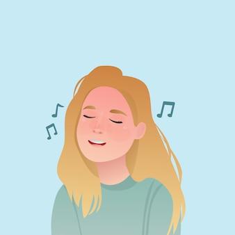 女の子歌う表現かわいい