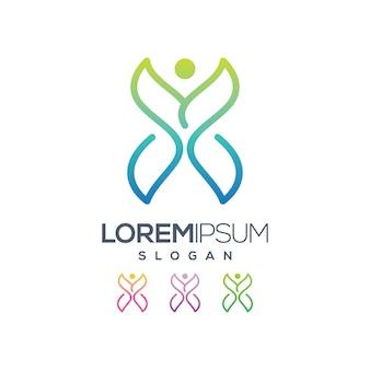 Коллекция дизайн логотипа бабочка