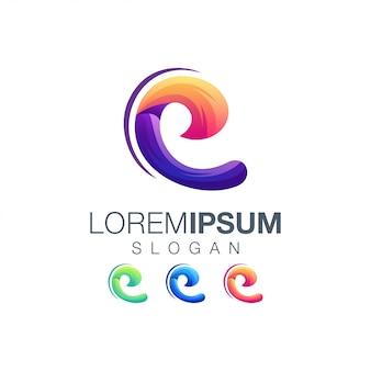 Буква е логотип