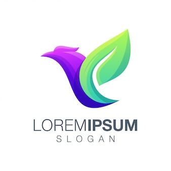Дизайн логотипа цвета птицы