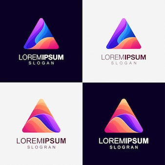 Треугольник градиент цветной логотип