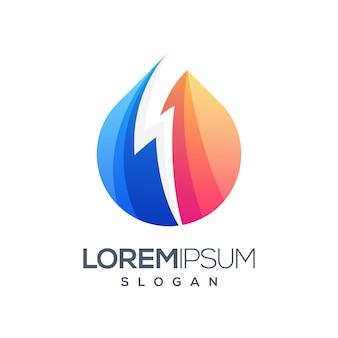 Молнии абстрактный дизайн логотипа