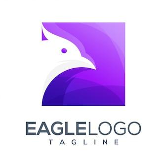 イーグルカラフルなロゴデザイン