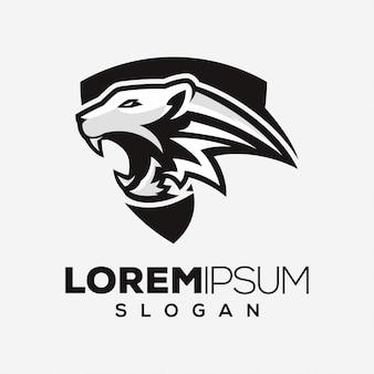 Тигр абстрактный дизайн логотипа