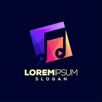 抽象的なカラフルな音楽ロゴデザイン