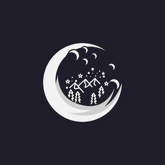 Логотип горы силуэт