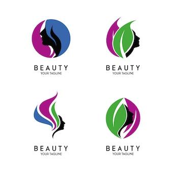 美容ロゴテンプレートベクトル