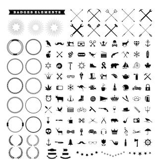 ヴィンテージバッジ&ロゴデザイン要素ベクトル