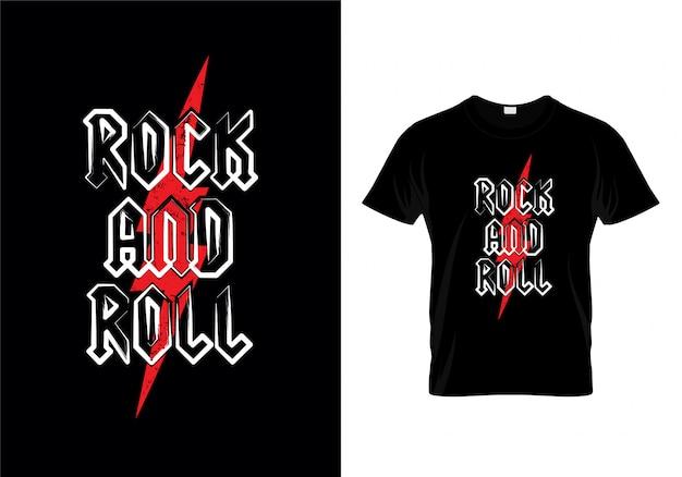 Рок-н-ролл футболка дизайн вектор
