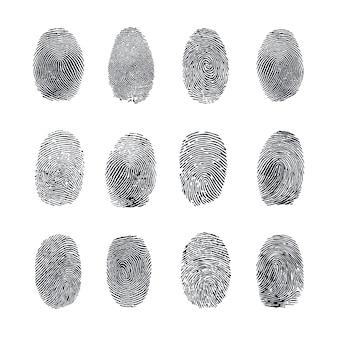 Набор векторных отпечатков пальцев