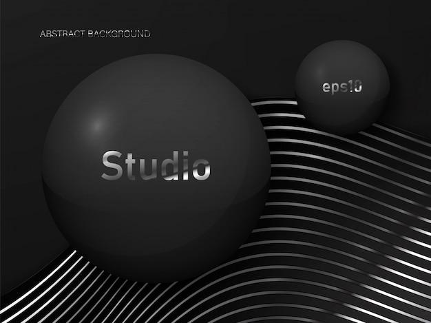 Абстрактная предпосылка студии в черном цвете.