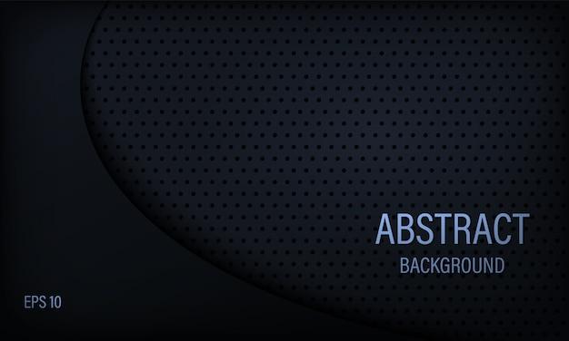 Стильный абстрактный фон в черный и синий.