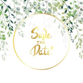 日付結婚式の招待状の背景を保存