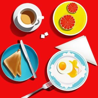 セミリアルな朝食セット