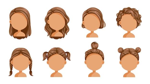美しい髪型。