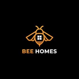 Шаблон логотипа пчела вектор