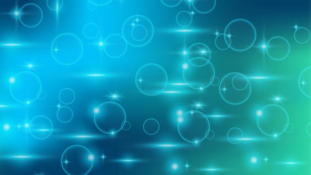 Абстрактный современный синий фон с пузырьками