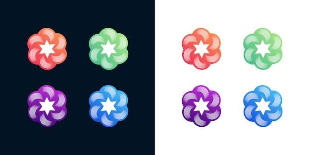 カラフルなロゴデザインセット