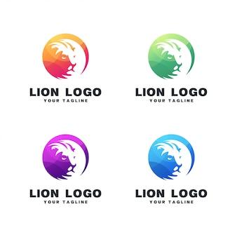 Дизайн логотипа из листьев льва