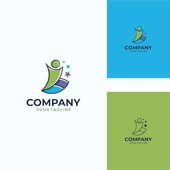 楽しい人間のベクトルのロゴのテンプレート