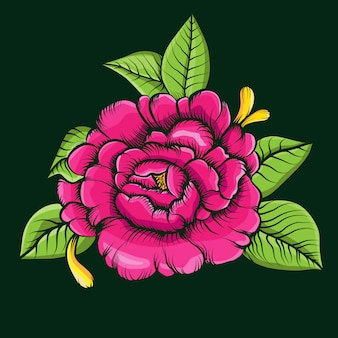 バラの花のベクトル図