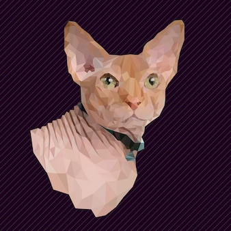Полигональная геометрическая кошка