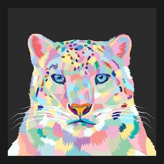 Красочный вектор стиля поп-арт тигра