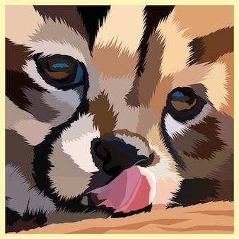 Красочный портрет тигрового поп-арта