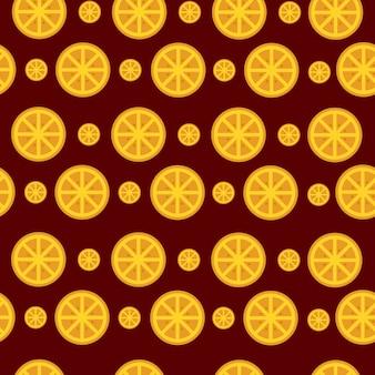 シームレスパターンフルーツオレンジ