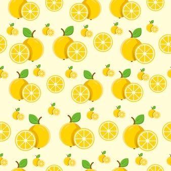 シームレスパターンレモン