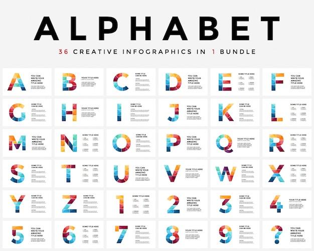 Шрифт инфографики, схема, презентация. буквы a, b, c, d, e, f, g, h, k. бизнес-концепция с опциями, частями, этапами или процессами.