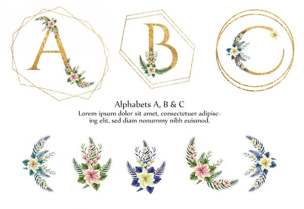 A、b、cのアルファベット