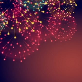 ディワリのための花火と背景