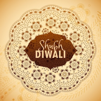 A background with mandala for diwali