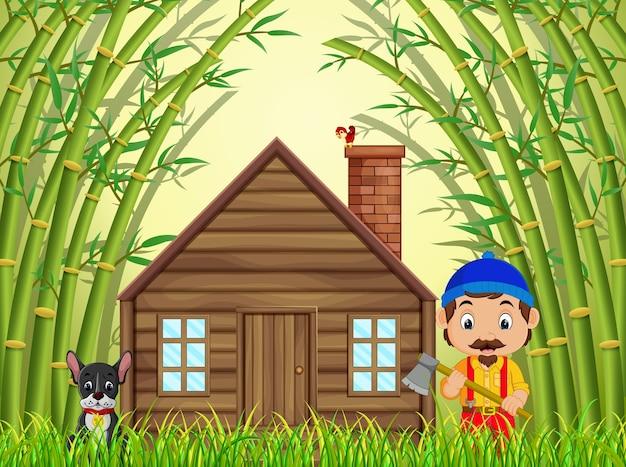 ハッピージャムとイヌの竹林