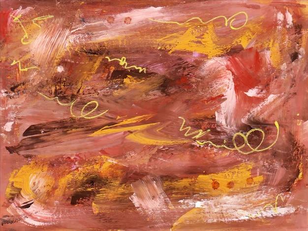 美しい茶色の手描きの抽象的なガッシュ水彩画の背景