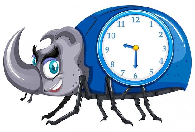 カブトムシの時計
